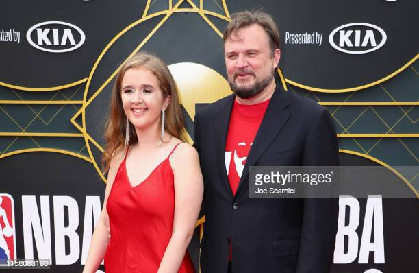 Ellen Morey and General Manager of the Houston Rockets Daryl Morey attend the 2019 NBA Awards presented by Kia on TNT at Barker Hangar on June 24,...