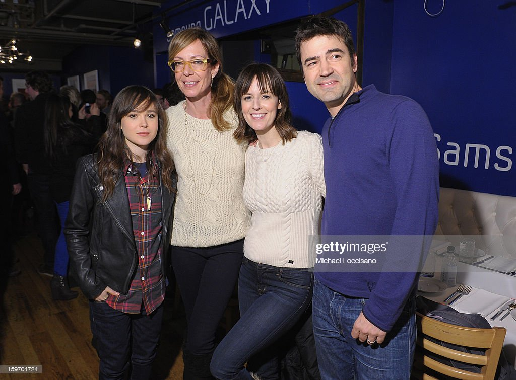 Ellen Page, Allison Janney, Rosemarie DeWitt and Ron Livingston attend The Samsung Galaxy Lounge Hosts Cast Dinners for 'Touchy Feely' and 'We Are What We Are' at Village At The Lift 2013 on January 18, 2013 in Park City, Utah.