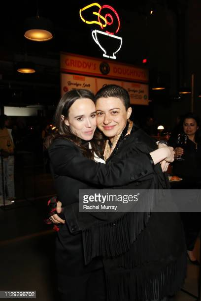 Ellen Page and Alia Shawkat attend The Umbrella Academy Premiere on February 12 2019 in Hollywood California