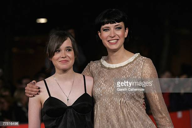 Ellen Page and Diablo Cody attend the premiere for 'Juno' on day 9 of the 2nd Rome Film Festival on October 26 2007 in Rome Italy