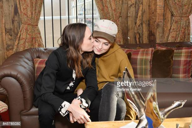 Ellen Page and Emma Portner at the MY DAYS OF MERCY premiere party hosted by GREY GOOSE Vodka and Soho House on September 11, 2017 in Toronto, Canada.