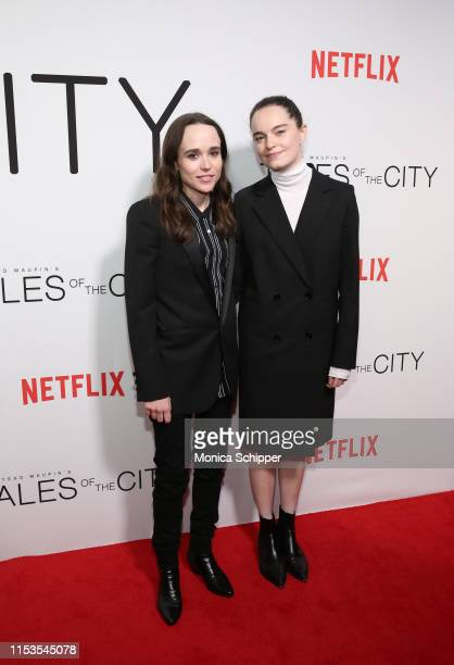 "Ellen Page and Emma Portner attend Netflix's ""Tales of the City"" New York Premiere at The Metrograph on June 03, 2019 in New York City."