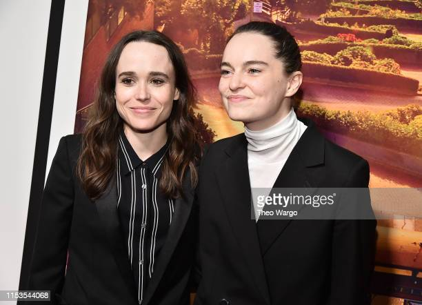 Ellen Page and Emma Portner attend Tales Of The City New York Premiere at The Metrograph on June 03 2019 in New York City