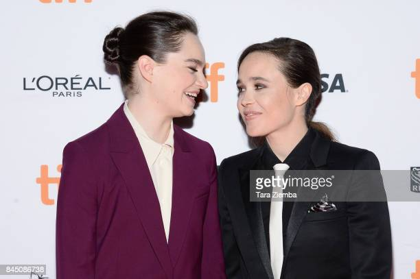 Ellen Page and Emma Portner attend the premiere of 'The Cured' during the 2017 Toronto International Film Festival at Ryerson Theatre on September 9,...
