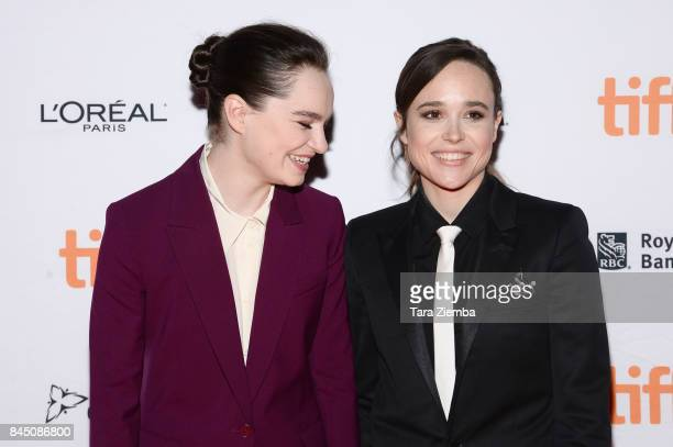 Ellen Page and Emma Portner attend the premiere of 'The Cured' during the 2017 Toronto International Film Festival at Ryerson Theatre on September 9...