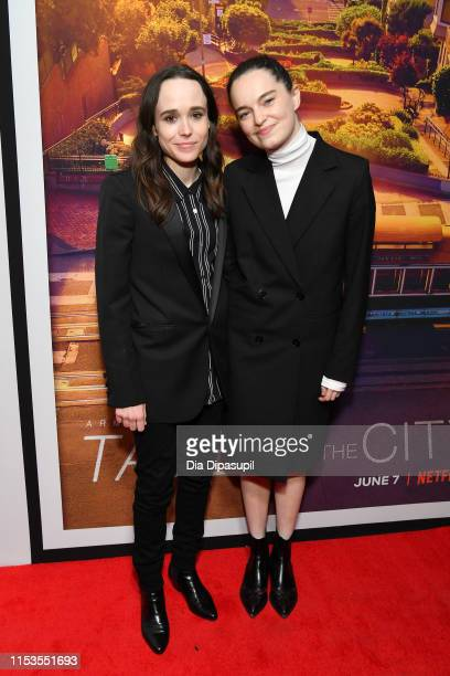 "Ellen Page and Emma Portner attend the ""Tales of the City"" New York premiere at The Metrograph on June 03, 2019 in New York City."