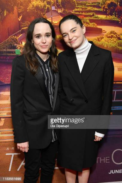 Ellen Page and Emma Portner attend the Tales of the City New York premiere at The Metrograph on June 03 2019 in New York City