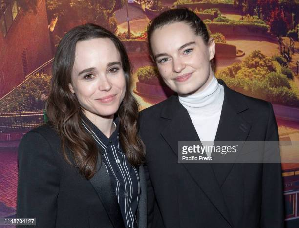 Ellen Page and Emma Portner attends Tales of the City New York premiere at Metrograph.