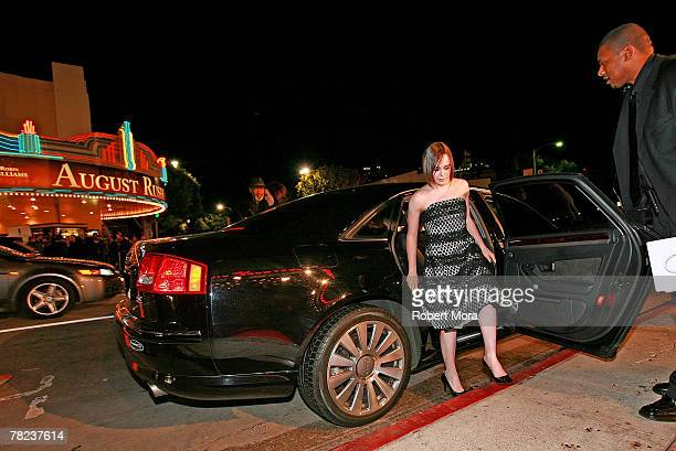 Ellen Page arrives in an Audi Sedan to the premiere of Juno at Mann Village Theatre on December 3 2007 in Westwood California