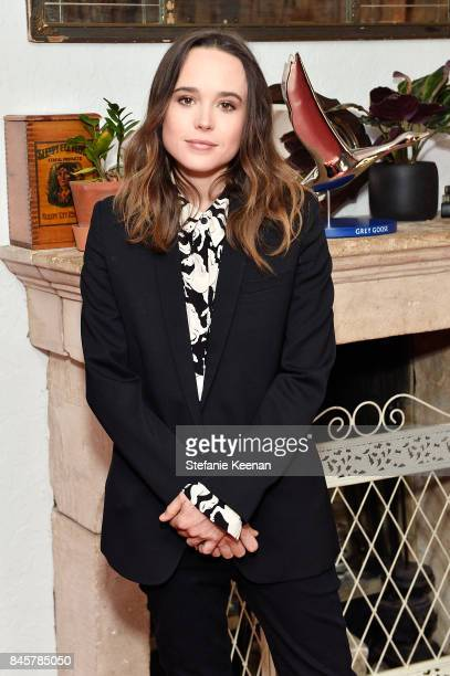 Ellen Page at the MY DAYS OF MERCY premiere party hosted by GREY GOOSE Vodka and Soho House on September 11, 2017 in Toronto, Canada.