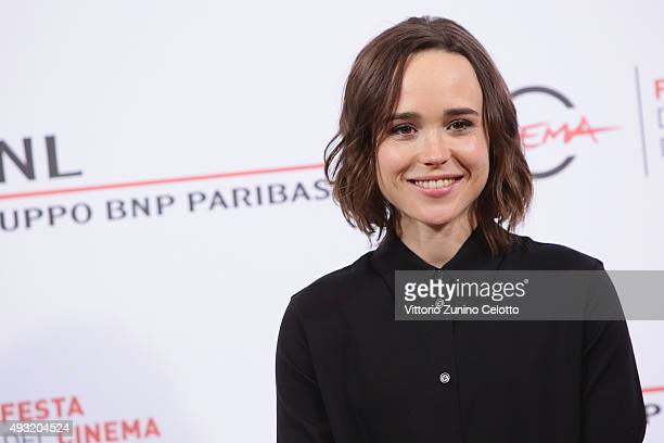 Ellen Page attends a photocall for 'Freeheld' during the 10th Rome Film Fest on October 18, 2015 in Rome, Italy.