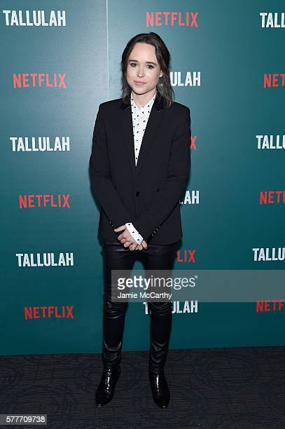 Ellen Page attends a special screening of Tallulah hosted by Netflix at Landmark Sunshine Cinema on July 19 2016 in New York City