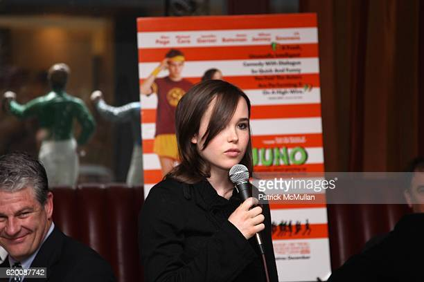 Ellen Page attends IVAN REITMAN Hosts a Lunch for ELLEN PAGE and JASON REITMAN In Celebration of FOX SEARCHLIGHT PICTURES' JUNO at 21 Club on...