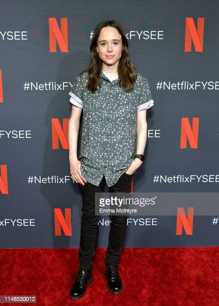 Ellen Page attends Netflix's 'Umbrella Academy' Screening at Raleigh Studios on May 11, 2019 in Los Angeles, California.