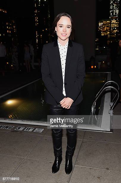 Ellen Page attends the after party for a special screening of 'Tallulah' hosted by Netflix at The Jimmy at the James Hotel on July 19 2016 in New...