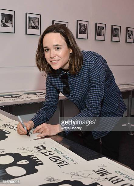 Ellen Page attends the Film Independent At LACMA Live Read of 'Stand By Me' at Bing Theatre At LACMA on March 17 2016 in Los Angeles California
