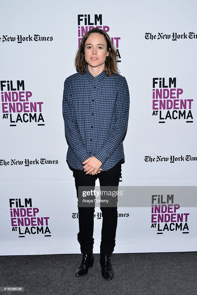 Ellen Page attends the Film Independent At LACMA - Live Read of 'Stand By Me' at Bing Theatre At LACMA on March 17, 2016 in Los Angeles, California.