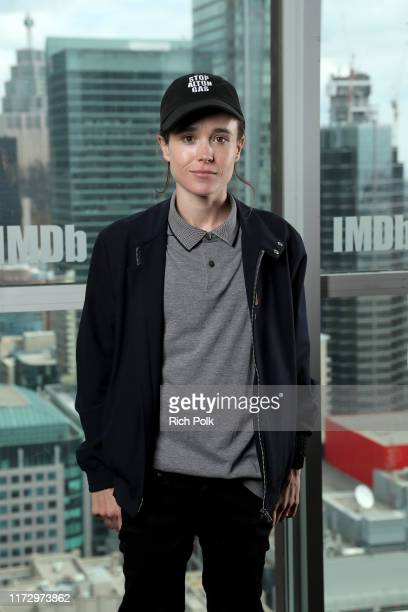 Ellen Page attends The IMDb Studio Presented By Intuit QuickBooks at Toronto 2019 at Bisha Hotel & Residences on September 07, 2019 in Toronto,...