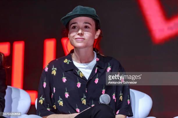 Ellen Page attends the Netflix Original: The Umbrella Academy panel at Comic-Con São Paulo on December 8, 2018 in Sao Paulo, Brazil.