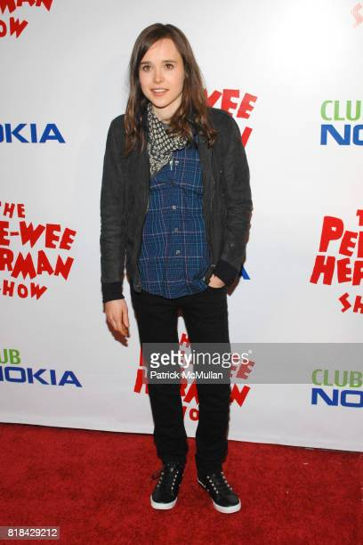 Ellen Page attends The Pee Wee Herman Show Opening Night at Club Nokia on January 20 2010 in Los Angeles California