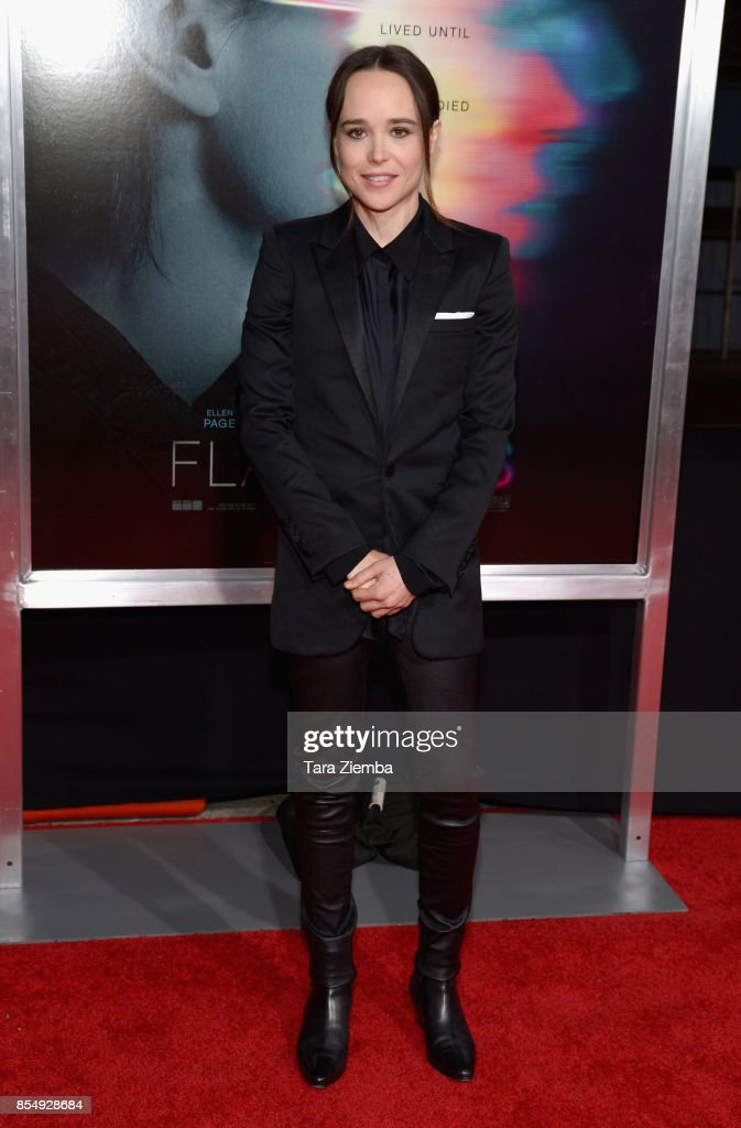 Ellen Page attends the premiere of Columbia Pictures' 'Flatliners' at The Theatre at Ace Hotel on September 27, 2017 in Los Angeles, California.