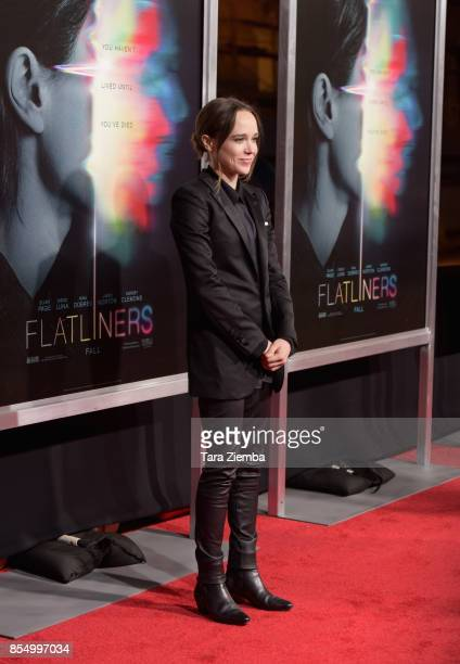 Ellen Page attends the premiere of Columbia Pictures' 'Flatliners' at The Theatre at Ace Hotel on September 27 2017 in Los Angeles California