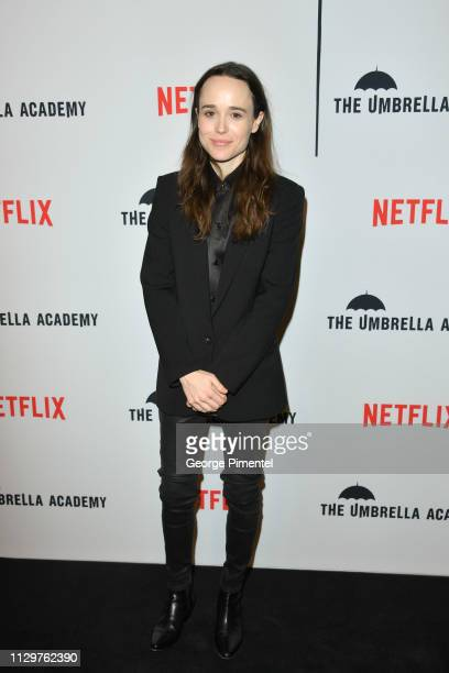Ellen Page attends the premiere of Netflix's 'The Umbrella Academy' at TIFF Bell Lightbox on February 14, 2019 in Toronto, Canada.