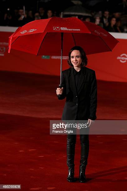 Ellen Page attends the red carpet for 'Freeheld' during the 10th Rome Film Fest on October 18 2015 in Rome Italy