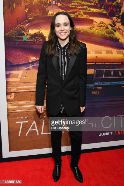 "Ellen Page attends the ""Tales of the City"" New York premiere at The Metrograph on June 03, 2019 in New York City."
