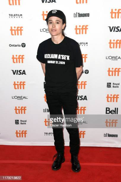"Ellen Page attends the ""There's Something In The Water"" premiere during the 2019 Toronto International Film Festival at The Elgin on September 08,..."