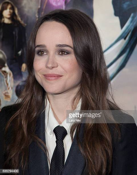 """Ellen Page attends the """"X-Men: Days of Future Past"""" global premiere at Jacob K. Javits Convention Center in New York City. © LAN"""
