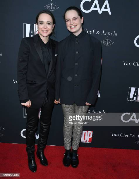 Ellen Page Emma Portner arrives at the LA Dance Project's Annual Gala at LA Dance Project on October 7 2017 in Los Angeles California