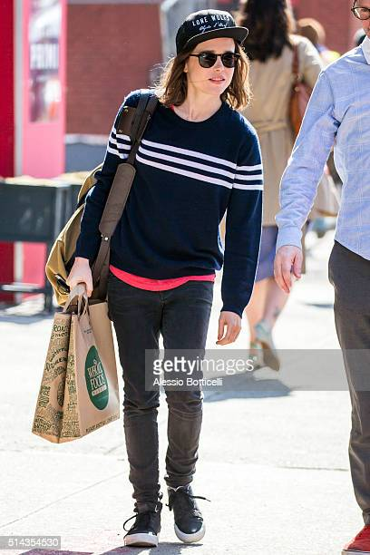 Ellen Page is seen in East Village on March 8 2016 in New York City