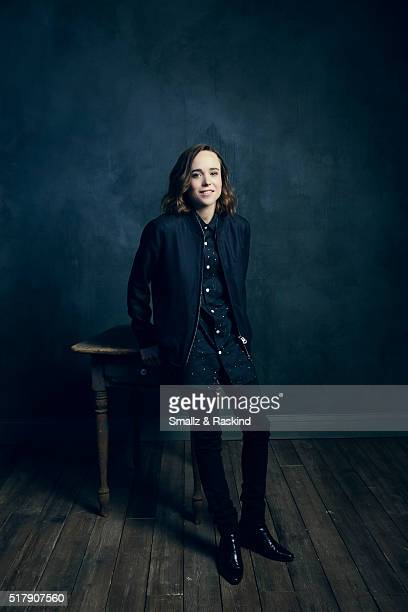 Ellen Page poses for a portrait in the Getty Images SXSW Portrait Studio Powered By Samsung on March 13 2016 in Austin Texas