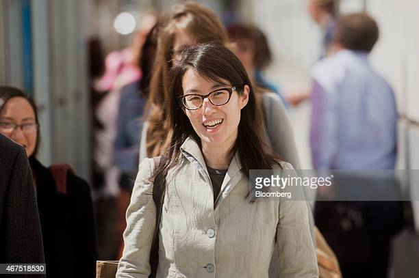 Ellen Pao former junior partner at Kleiner Perkins Caufield Byers arrives at state court in San Francisco California US on Wednesday March 25 2015...