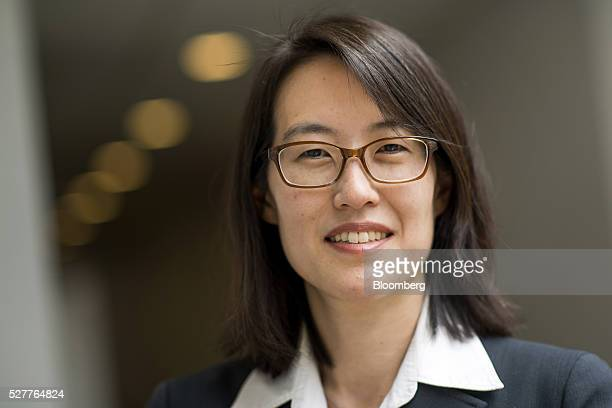 Ellen Pao former venture capitalist at Keiner Perkins Caufield and Byers and former interim chief executive officer of Reddit stands for a photograph...