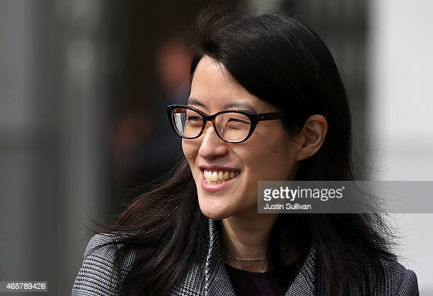 Ellen Pao leaves the California Superior Court Civic Center Courthouse during a lunch break from her trial on March 10 2015 in San Francisco...