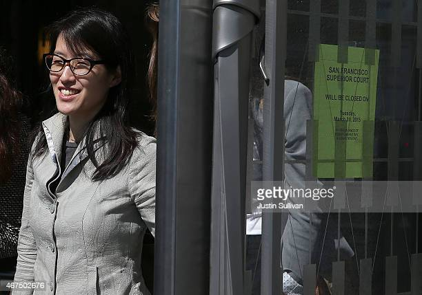 Ellen Pao leaves the San Francisco Superior Court Civic Center Courthouse during a lunch break from her trial on March 25 2015 in San Francisco...