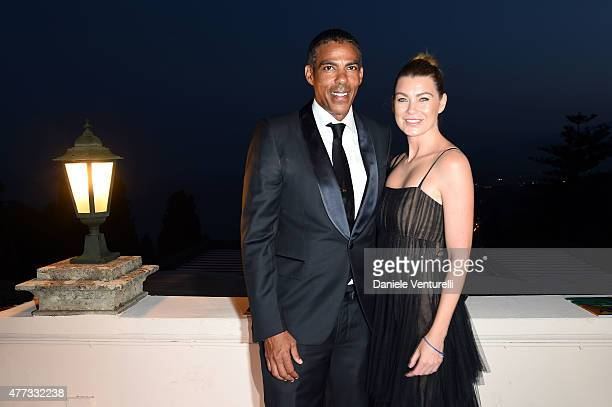 Ellen Pompeo and Chris Ivery attend Day 4 of the 61st Taormina Film Fest on June 16 2015 in Taormina Italy