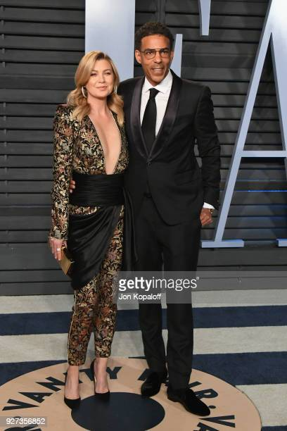 Ellen Pompeo and Chris Ivery attend the 2018 Vanity Fair Oscar Party hosted by Radhika Jones at Wallis Annenberg Center for the Performing Arts on...