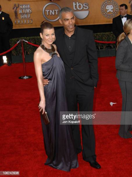 Ellen Pompeo and Chris Ivery during 13th Annual Screen Actors Guild Awards Arrivals at Shrine Auditorium in Los Angeles California United States