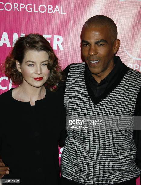 Ellen Pompeo and Chris Ivery during Billy Wilder Theater Opening Tribute at Hammer Museum Arrivals at Hammer Museum in Westwood California United...