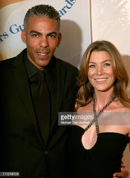 Ellen Pompeo and Christopher Ivery during 2006 Writers Guild Awards Arrivals at The Hollywood Palladium in Hollywood California United States