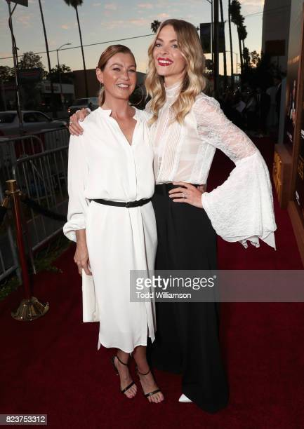Ellen Pompeo and Jaime King at the Amazon Prime Video premiere of the original drama series 'The Last Tycoon' at Harmony Gold Theatre on July 27 2017...