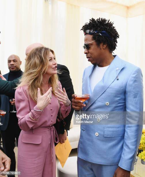 Ellen Pompeo and JayZ attend 2019 Roc Nation THE BRUNCH on February 9 2019 in Los Angeles California