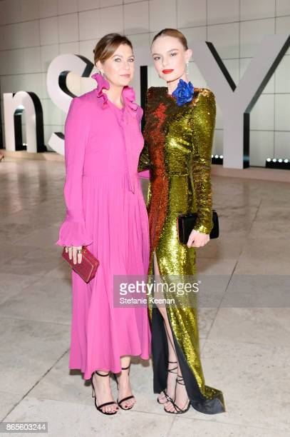Ellen Pompeo and Kate Bosworth attend the Third Annual 'InStyle Awards' presented by InStyle at The Getty Center on October 23 2017 in Los Angeles...