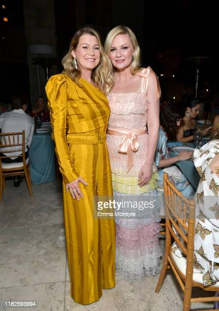 Ellen Pompeo and Kirsten Dunst attend the Fifth Annual InStyle Awards at The Getty Center on October 21 2019 in Los Angeles California