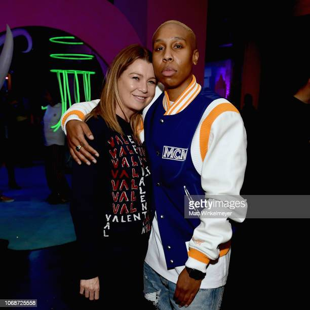 Ellen Pompeo and Lena Waithe attend Refinery29 Presents 29Rooms Los Angeles 2018 Expand Your Reality at The Reef on December 4 2018 in Los Angeles...