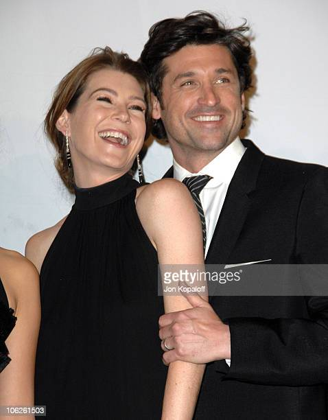 "Ellen Pompeo and Patrick Dempsey, winners Favorite TV Drama for ""Grey's Anatomy"""