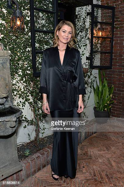 Ellen Pompeo attends a dinner celebrating Kerry Washington hosted by ELLE EditorInChief Robbie Myers and Movado Chairman CEO Efraim Grinberg at AOC...
